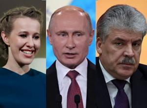Сравниваем Путина, Собчак и Грудинина